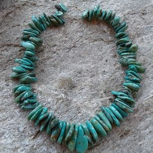 Sterling silver Genuine TURQUOISE NECKLACE